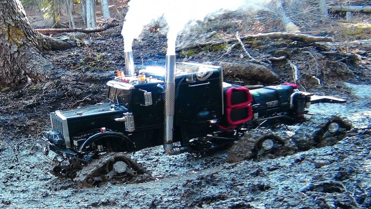 Muddy Tracked RC Semi-Truck