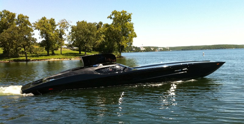 1 7m Zr48 Corvette Carbon Fiber Powerboat 2 700 Hp Muscle Horsepower