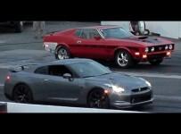 Ford Mustang Mach1 VS Nissan GTR