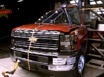 Pole Crash Test 2015 Chevy Silverado  GMC Sierra 2500HD 1
