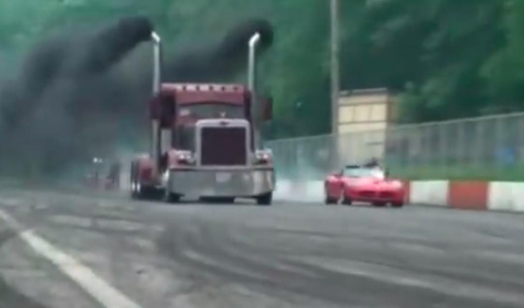 A Truck Overruns A Viper