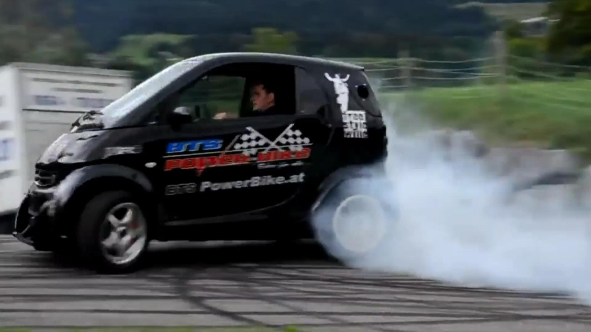 Hayabusa Powered Smart Car Is Doing Some Sick Burnouts And Doughnuts Muscle Horsepower