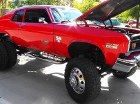 74 Chevy Nova SS Diesel Dually 4X4 Pigeon Forge Rod Run