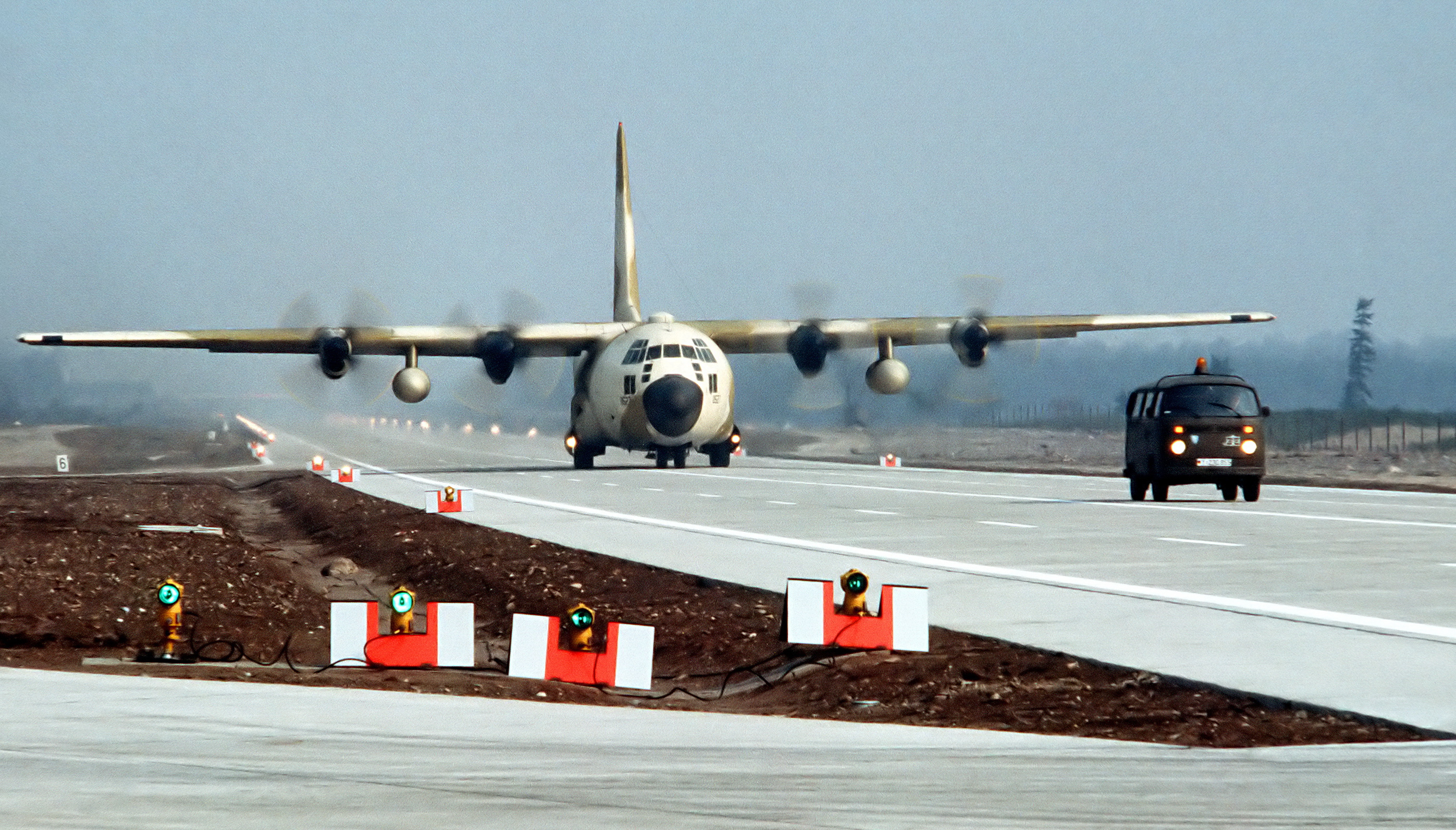 C130_Hercules_taxidriving_on_Autobahn_DoD_DF-ST-84-09439