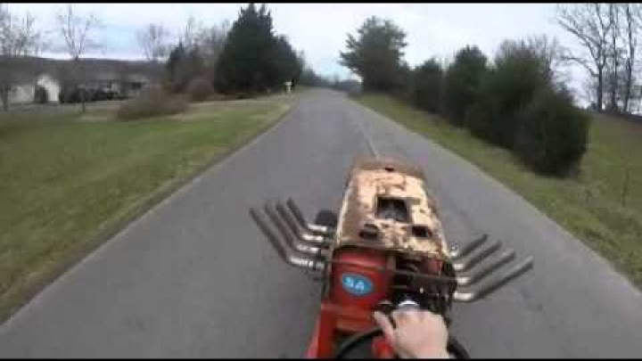 INSANE!!! Big Block Chevy Lawnmower Road Test!