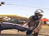 Justice is served to a biker who was the victim of police brutality!