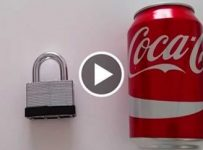How to Open a Lock With a Soda Can!