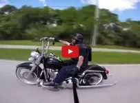 Trip to the Beach with Harley Heritage Classic Vicla!