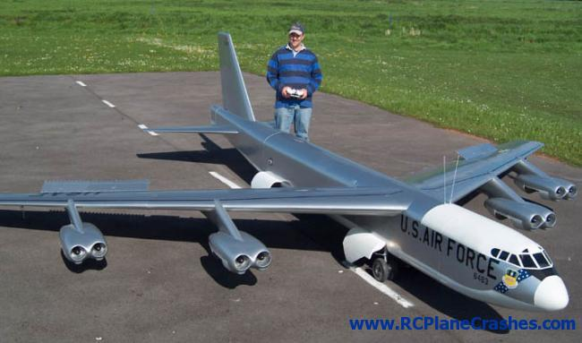 Giant Scale B 52 R C Plane Crash Muscle Horsepower
