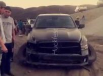 Dodge Owner Finds Out His Truck Can't Fly!