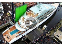 The Process Behind A 800,000 LBS Yacht LAUNCH! It's Not Simple At All!