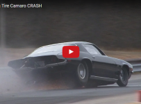 Wild Big Tire Camaro Crash, Out of the Groove and into the Wall!