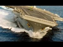 Who Knew a 100,000 Ton Aircraft Carrier Could Drift!