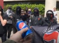 Someone Hilariously Tried To Break Up A Violent Riot With Pepsi!
