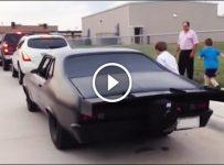 Murder Nova dropping his son off at school…