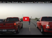 Turbo AWD UGLY Chevy Silverado vs 700 Horsepower Ford lightning!