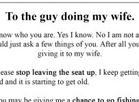 Husband knows wife is cheating, leaves a brilliant letter for the other man!