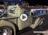 Pro Mod US Army Truck Blows Off Doors In Insane Drag Race vs Plan B Vette!