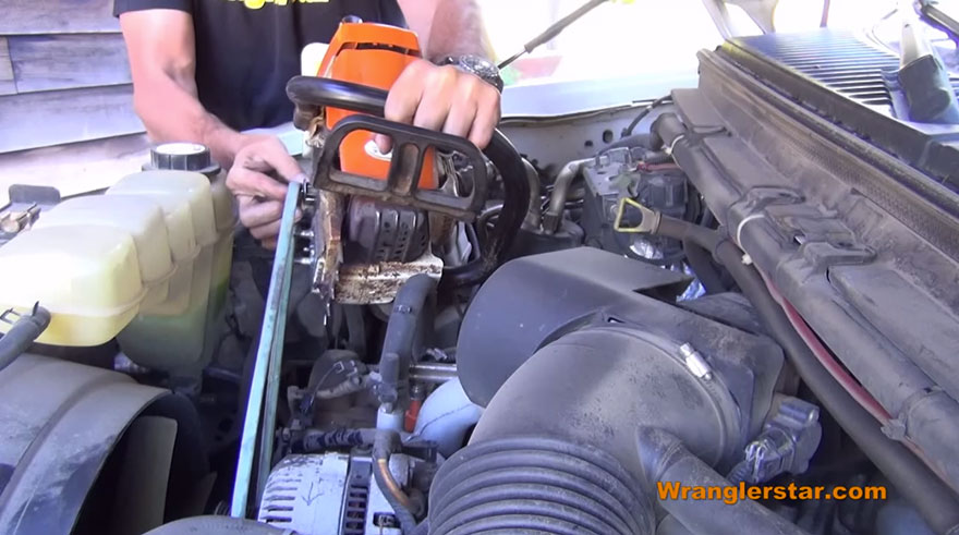 How to Charge Your Dead Battery with a Chainsaw